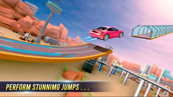跑车超级坡道赛车