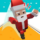 跑酷的圣诞老人